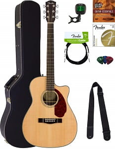 Fender CC-140SCE Concert Acoustic-Electric Guitar Bundle