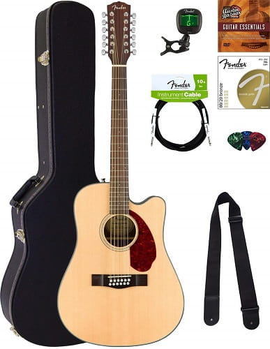 Fender CD-140SCE-12 Acoustic-Electric Guitar Bundle
