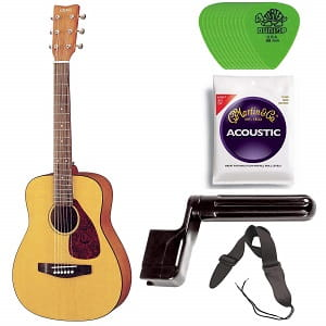 Yamaha JR1 34 Size Steel String Acoustic Guitar Bundle